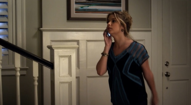 PLL Hanna blue sheer top